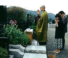 墓地墓経の写真